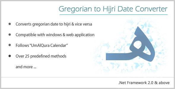 Gregorian to Hijri Date Converter