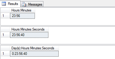 Convert Seconds to Days, Hours, Minutes & Seconds in SQL